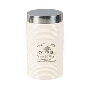 Pote em Porcelana com tampa em inox - Coffee - Bon Gourmet