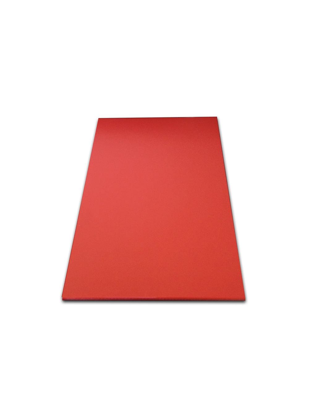 Tabua de Corte LISA em polietileno - vermelha - 50 x30