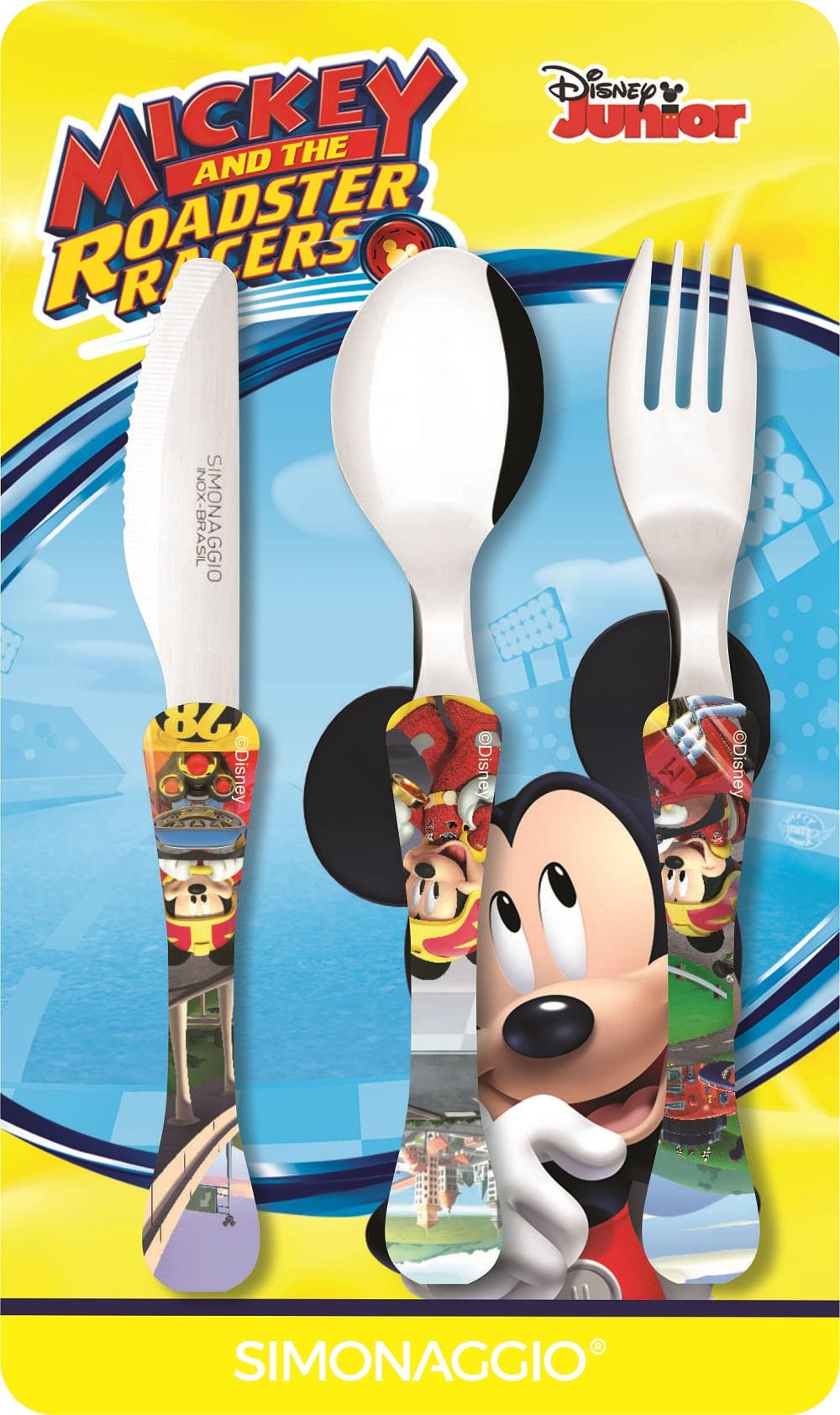 Faqueiro com 3 peças - Mickey - Kids