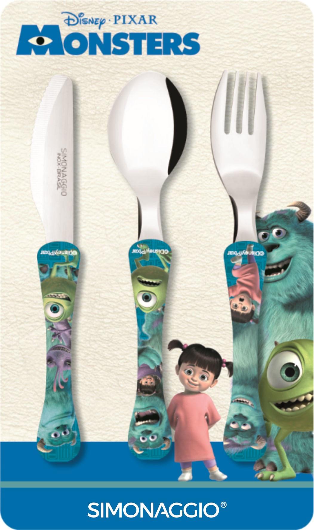 Faqueiro com 3 peças - Monsters -  kids