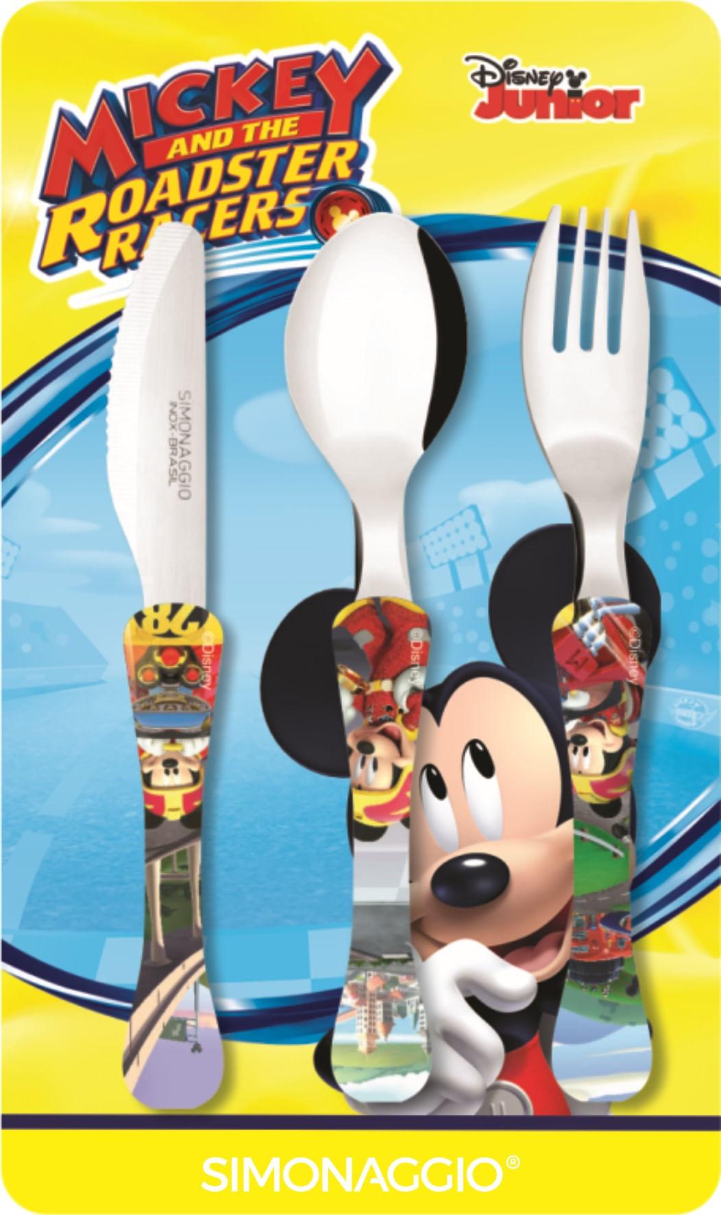 Faqueiro com 3 peças - Mickey Roadster -  kids