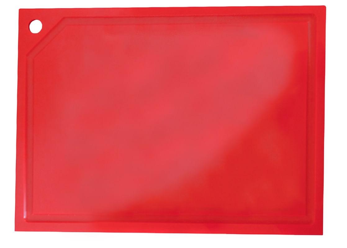 Tabua de Corte em polietileno - Vermelha - média