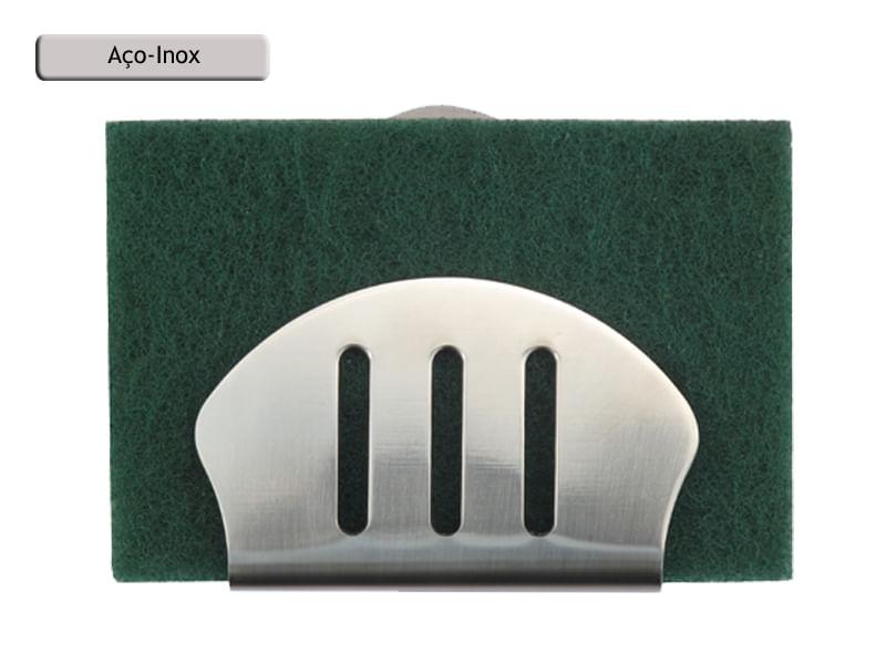 Porta Esponja de inox com ventosa - concha