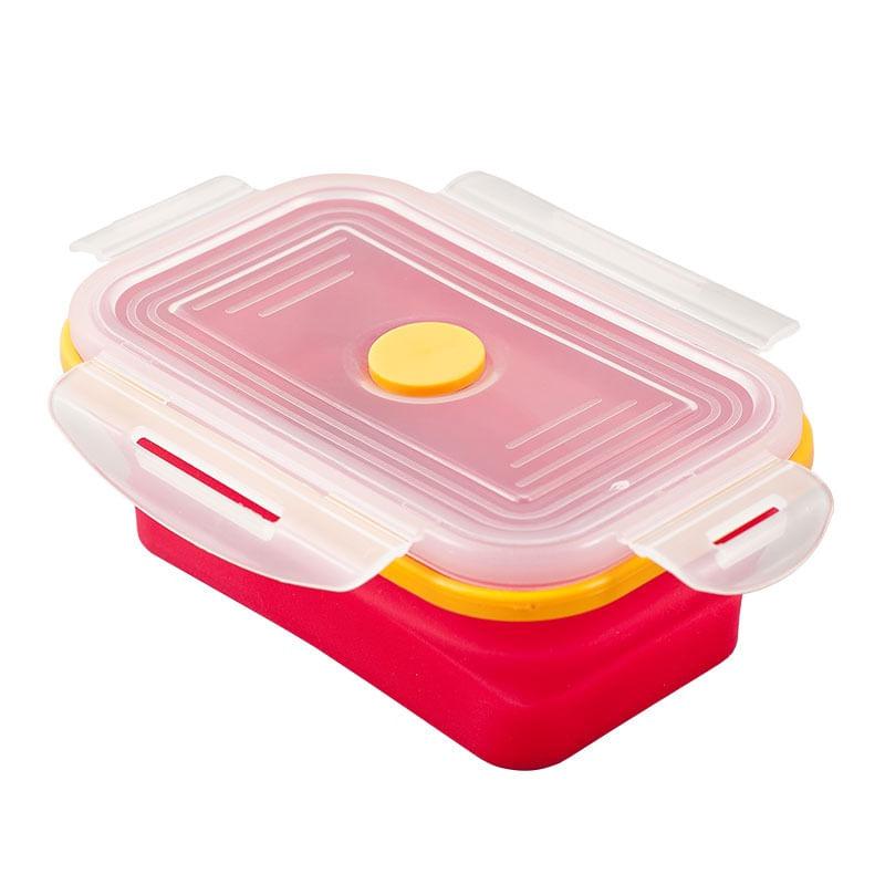 Porta Alimentos retratil - flexivel -  Rosa