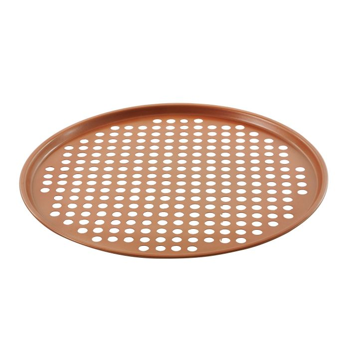 Forma de pizza 2 (duas) unidades cor cobre