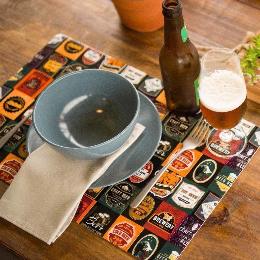 Jogo Americano com 4 unidades -  Cervejas