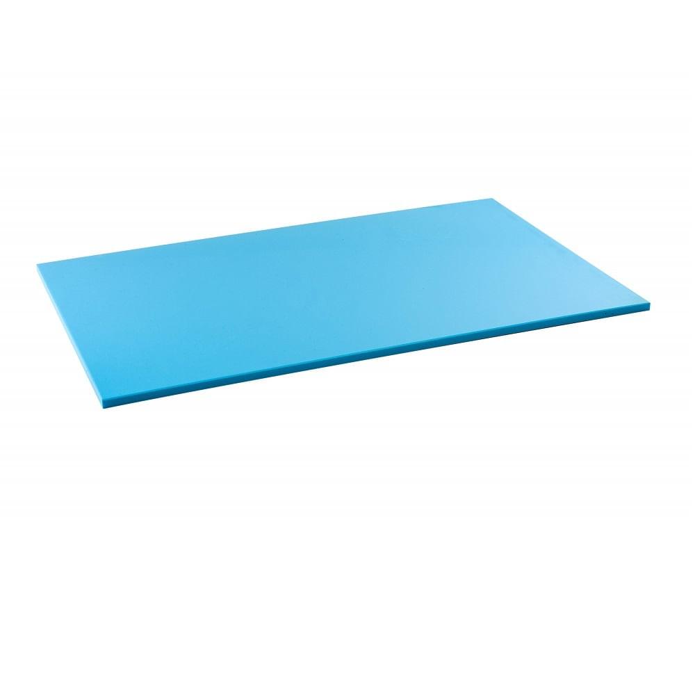 Tabua de Corte LISA em polietileno - azul - 50 x 30