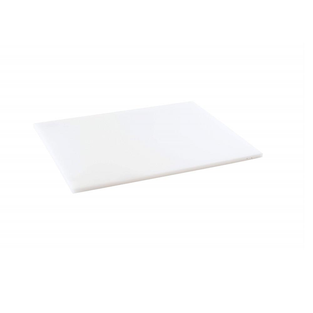 Tabua de Corte LISA  em polietileno - branca -  50 x 30
