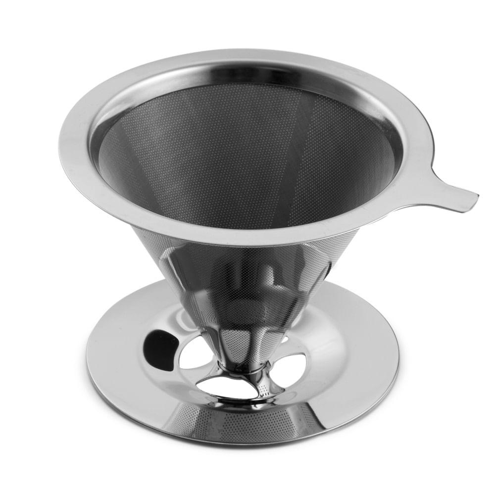 Filtro reutilizavel para cafe em inox 13,5 x 8,5 cm