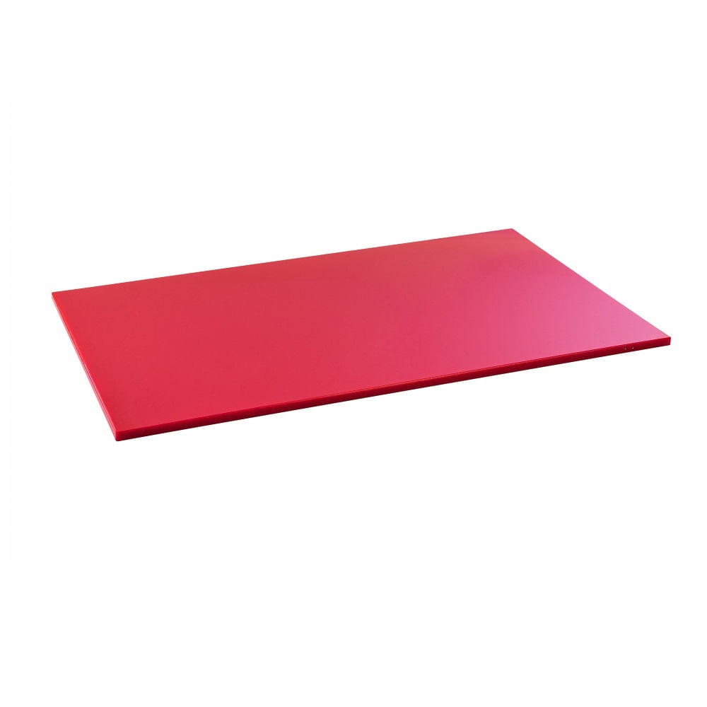 Tabua Corte LISA polietileno - Vermelha - 60 x 40 - Carne