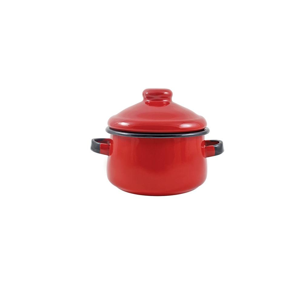 Mini Caçarola em Agata - 500 ML  - Vermelha - Indução