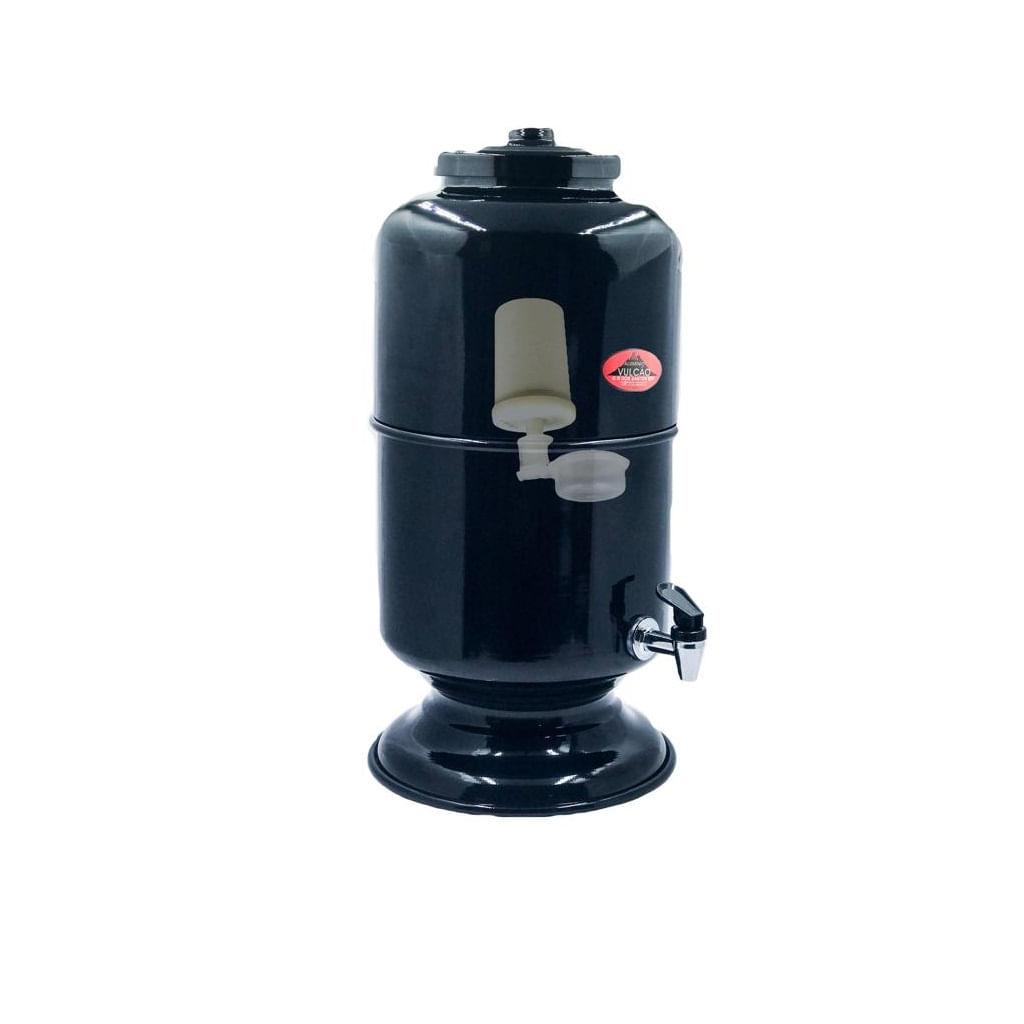 Filtro de 5 L , aluminio, com vela para reposição - Preto