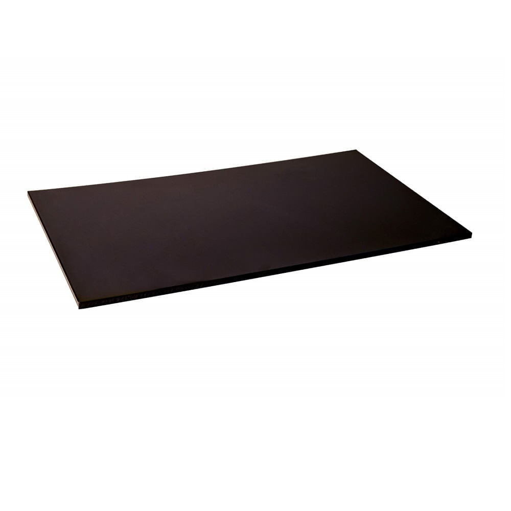 Tabua Corte Lisa polietileno - Preta 60 x 40 x 1,5 - Churrasco