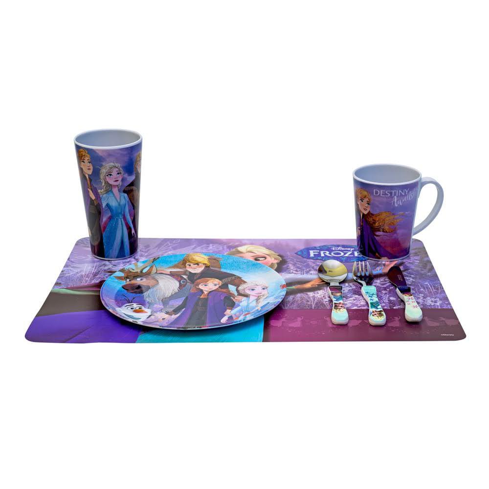 Kit Refeicao 2 original Frozen Disney 5 itens