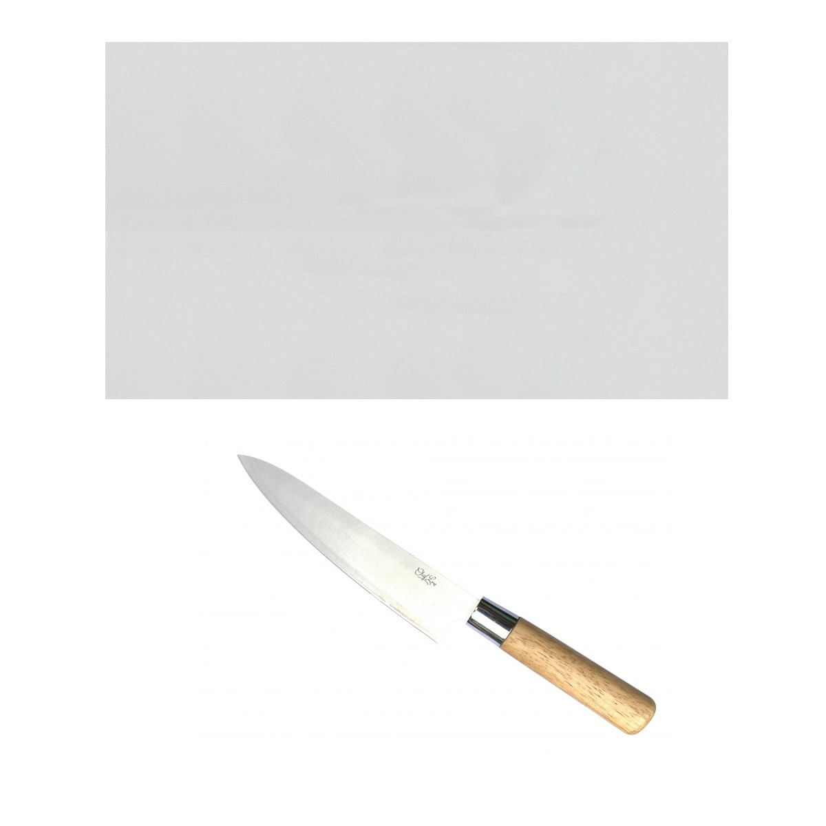 Tabua Corte LISA branca 50x30 - Polietileno - com faca Sushi