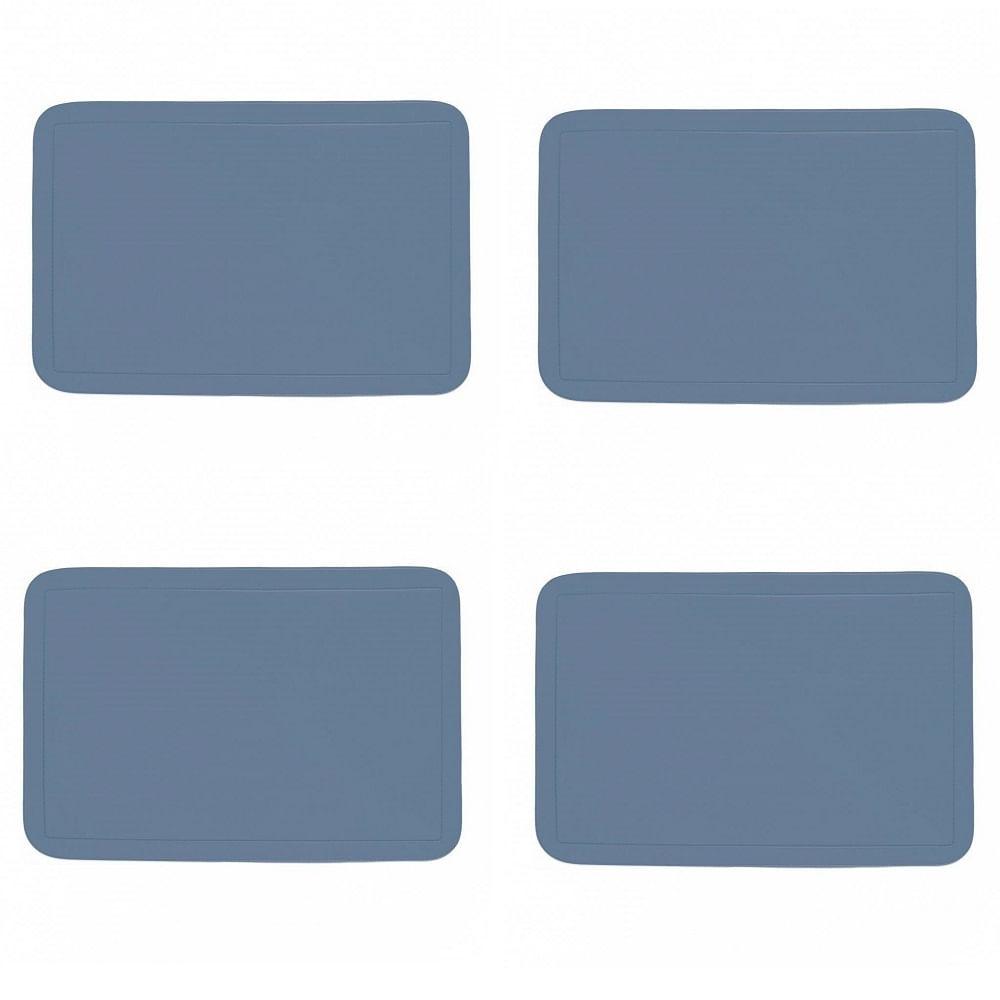 Jogo Americano com 4 unidades - JEANS - Retangular - PVC