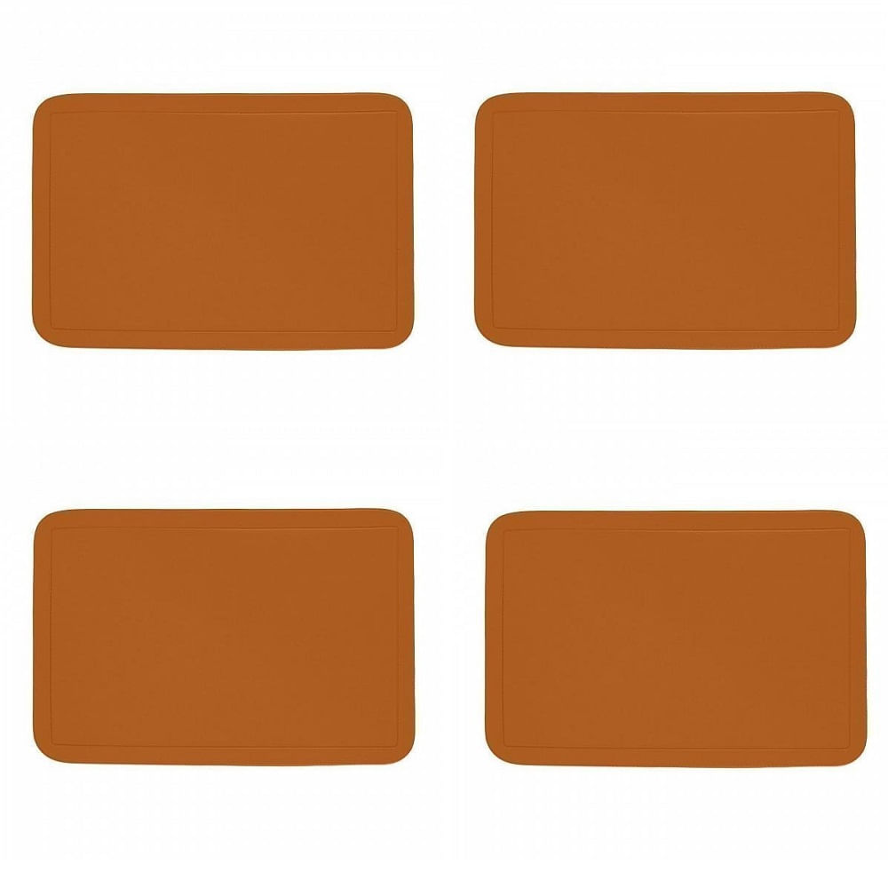 Jogo Americano com 4 unidades - TELHA - Retangular - PVC