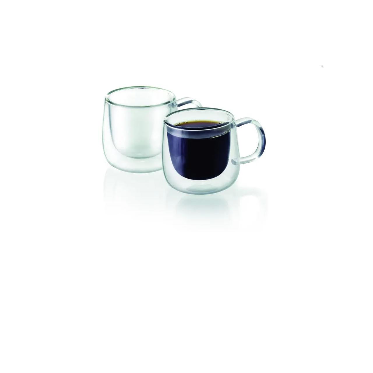 Conjunto de 2 Xicaras para cafezinho, de parede dupla 100 ml