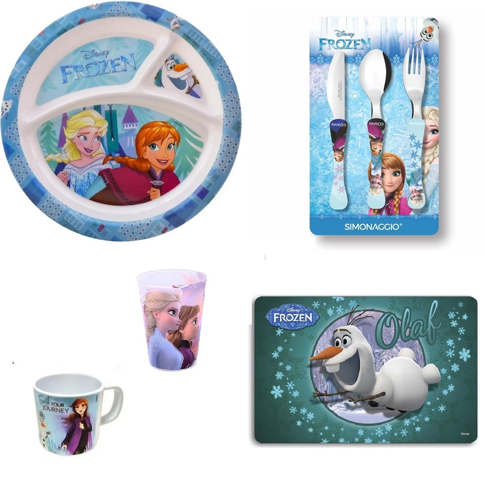 Kit Frozen original -Disney 5 itens - Olaf