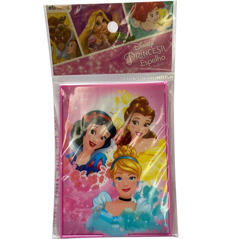 Kit Princesas - Faqueiro 3 peças e espelho portatil