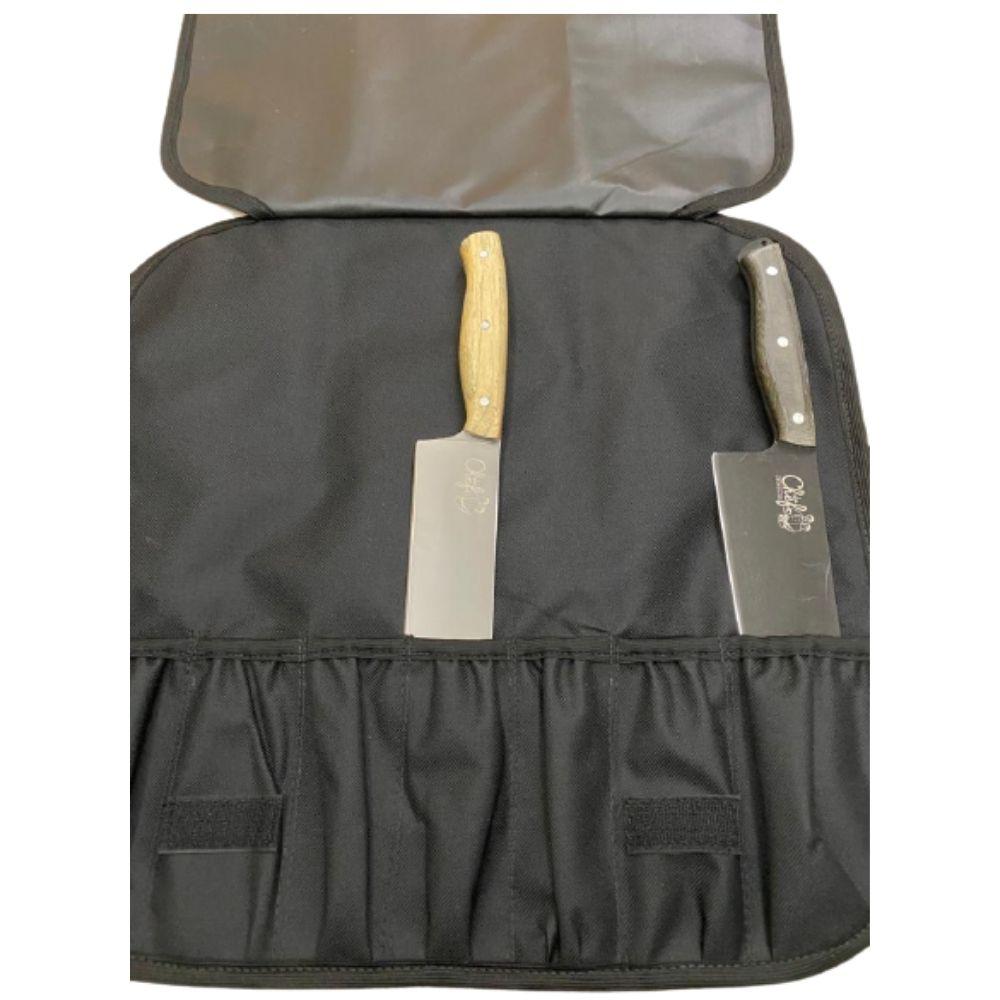 Estojo para facas e acessorios - Case - Churrasco - 7 itens