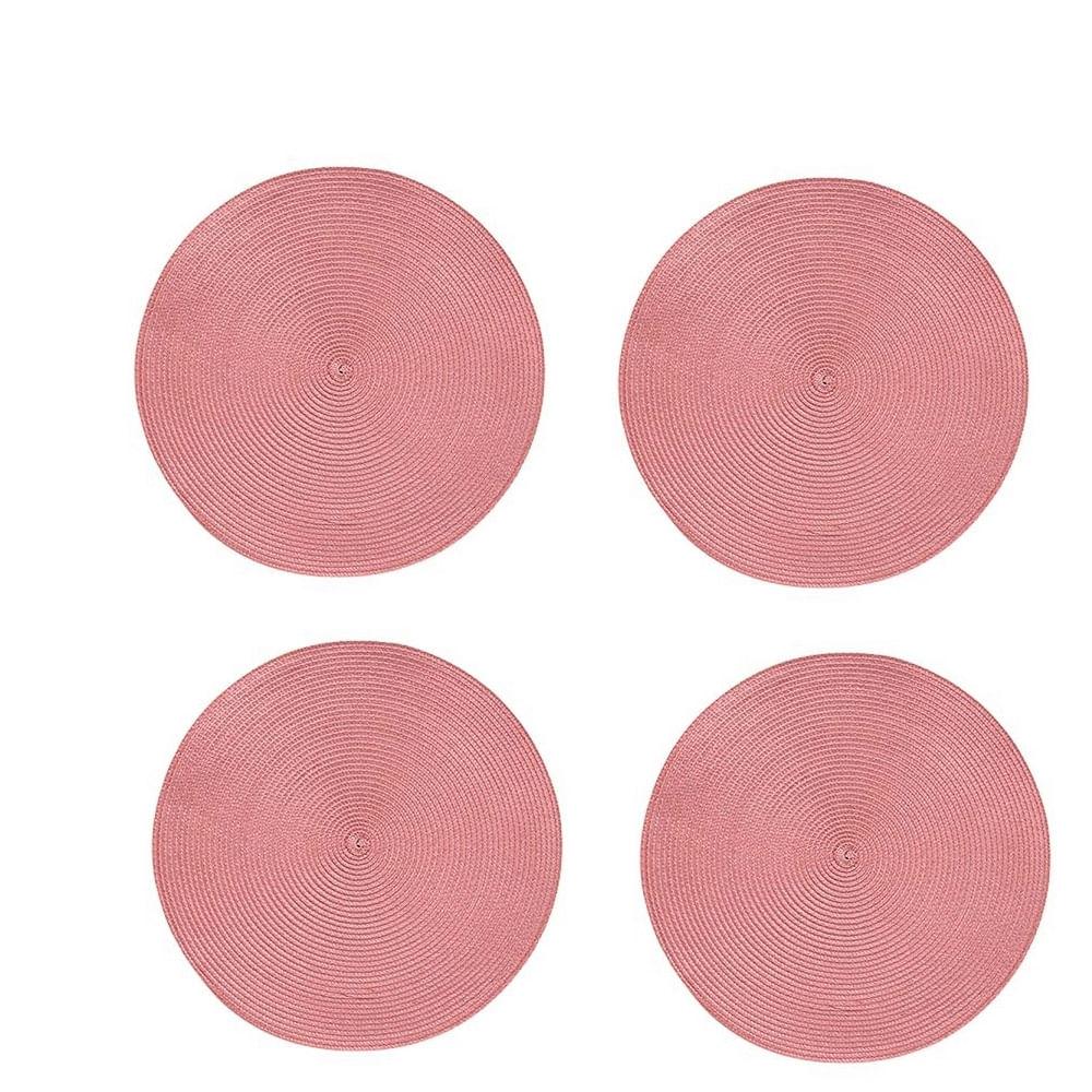 Jogo Americano Redondo - 4 unidades -  Rose Moderno