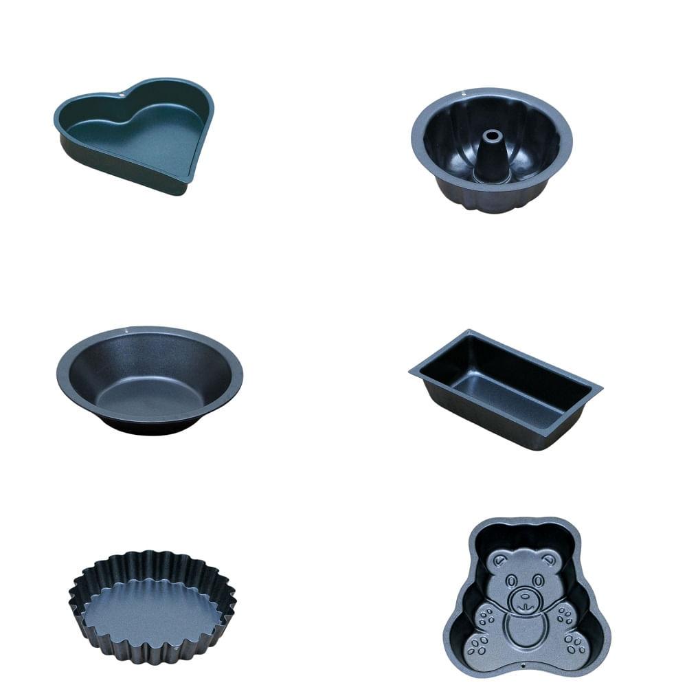 Conjunto de 6 mini formas para bolinhos - Probus houseware