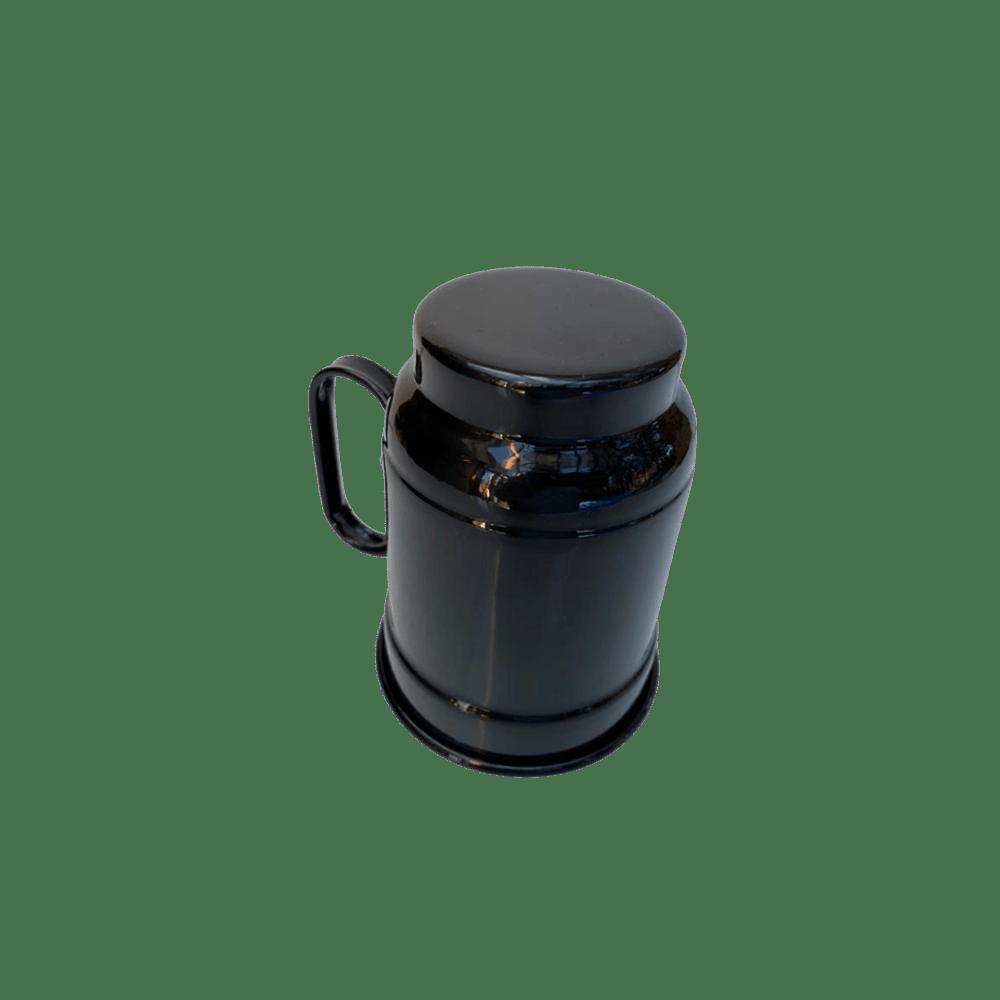 Canecas (2)  Preta Chopp cerveja aluminio 600 ml churrasco